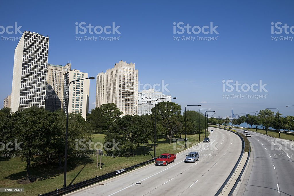 Lakeshore Drive and Chicago Apartments royalty-free stock photo