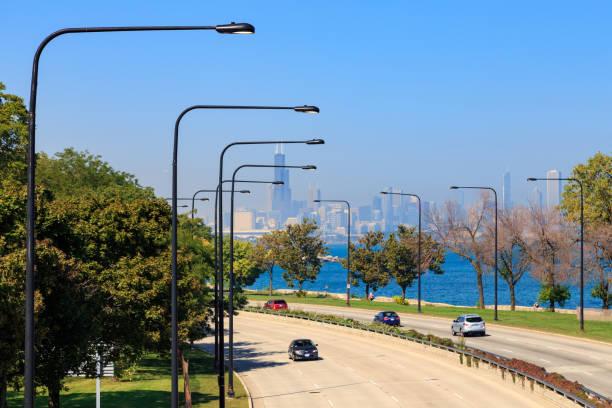 Lakeshore Drive Chicago stock photo