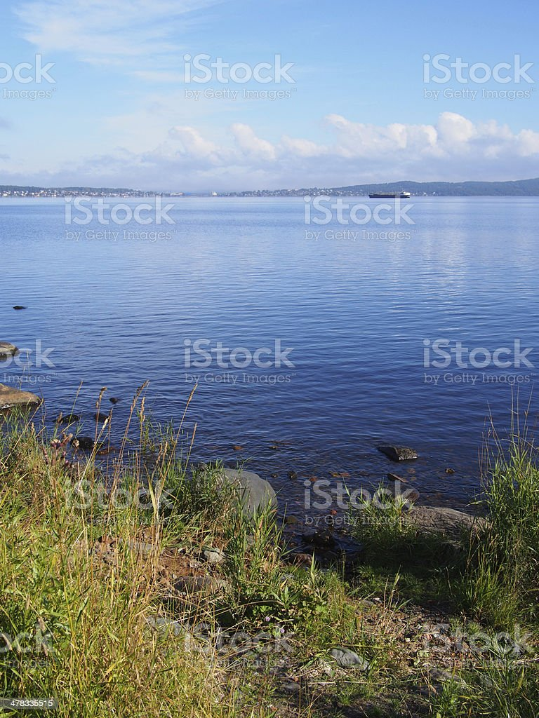 lakeshore royalty-free stock photo