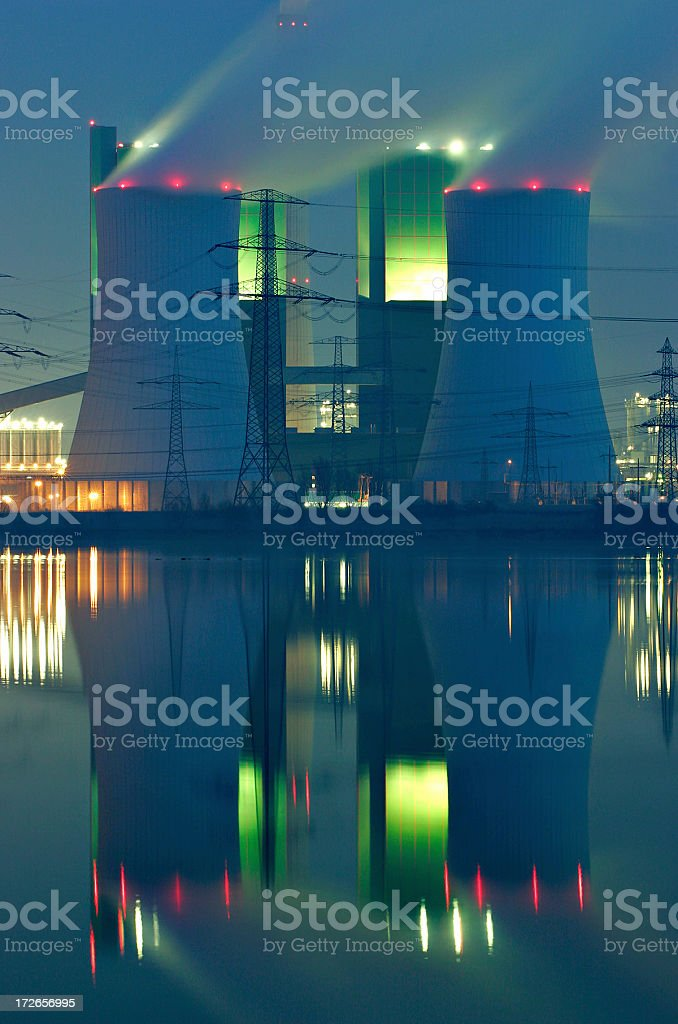 Lakeshore Power Plant royalty-free stock photo
