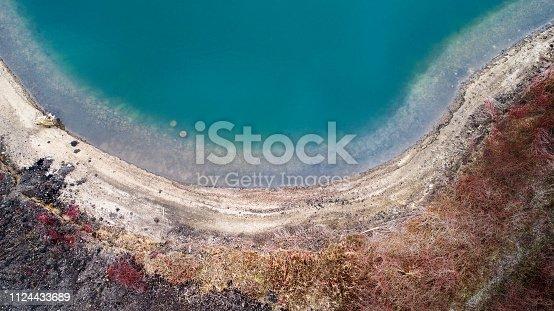Aerial view of lakeside, lakeshore