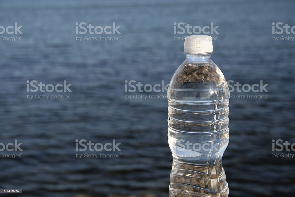 Lakeside Bottled Water stock photo