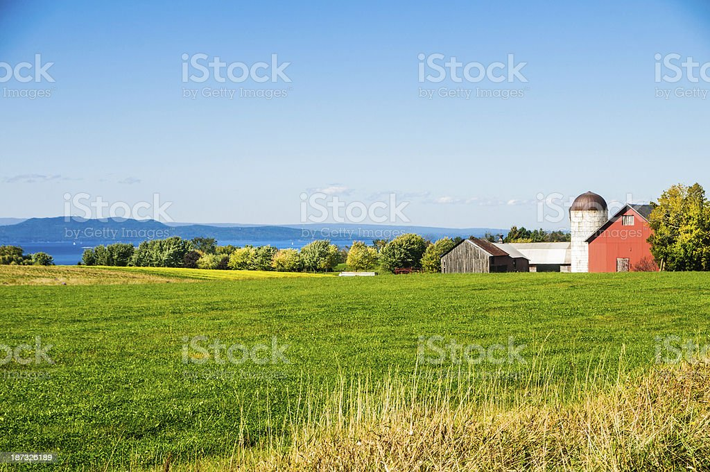 Lakeside Farm stock photo