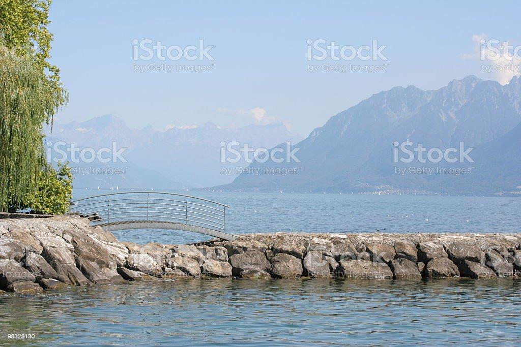 Passerella di Lakeside foto stock royalty-free