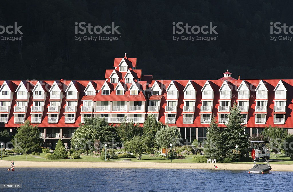 Lakeside holiday resort royalty-free stock photo