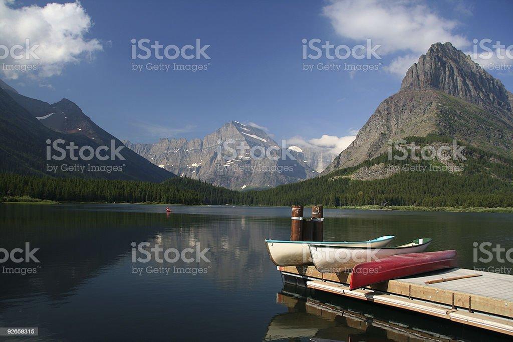 Lakeside kayak royalty-free stock photo