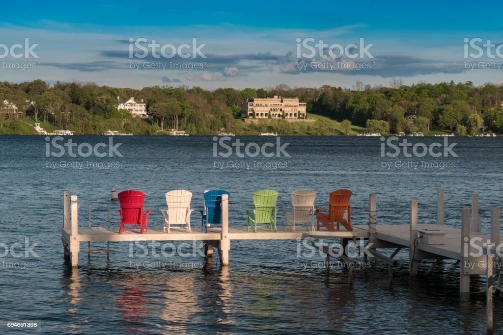Lakeside Living stock photo
