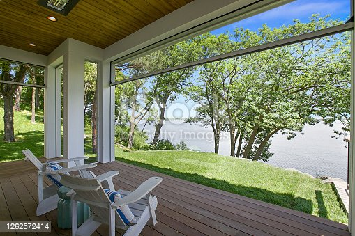 Relaxation and meditation come easily while sitting on the patio of this new home