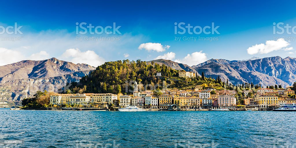 Lakeside of Bellagio, Italy stock photo