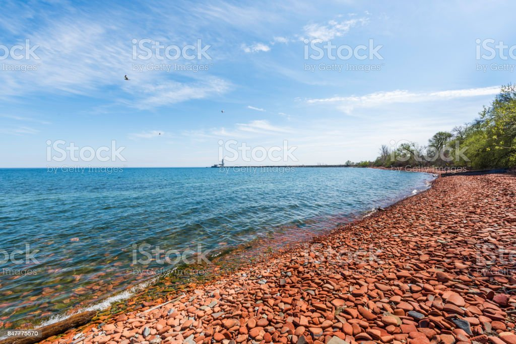 Lakeside Park stock photo