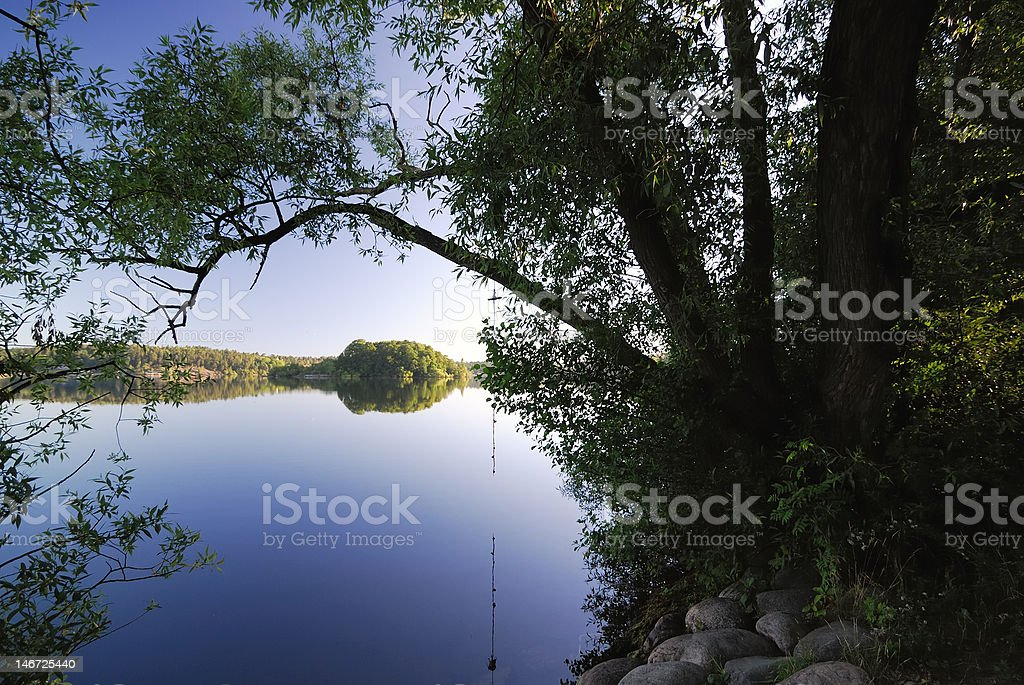 Lakeside stock photo