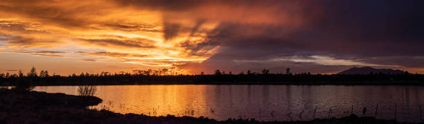Lakeside Sunset stock photo