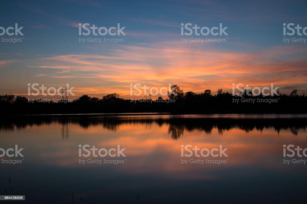 Lakeside Sunset - Royalty-free Beauty Stock Photo