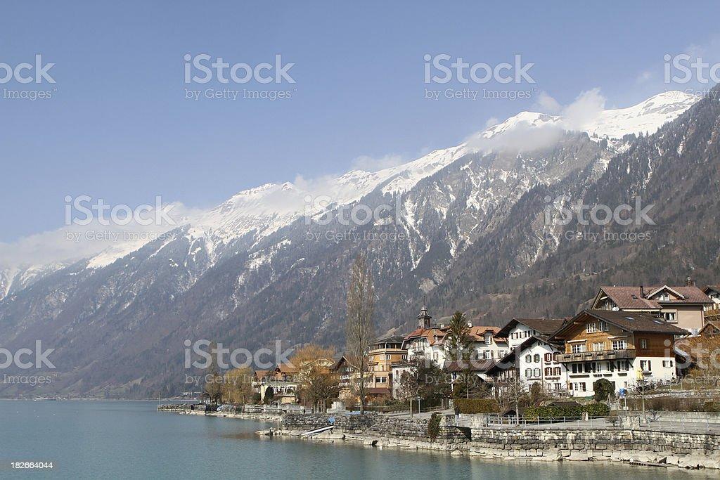 Lakeside town of Brienz, Berne Canton, Switzerland royalty-free stock photo
