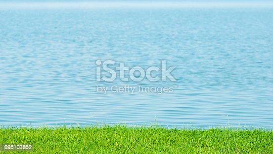 park lake background