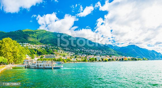 Lakeside view of Locarno, Switzerland