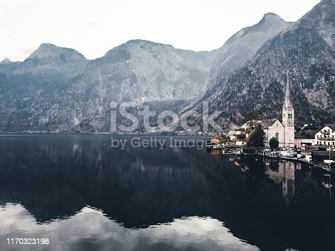 Lakeside Village of Hallstatt in Austria
