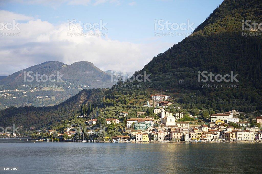 Lakeside village royalty-free stock photo