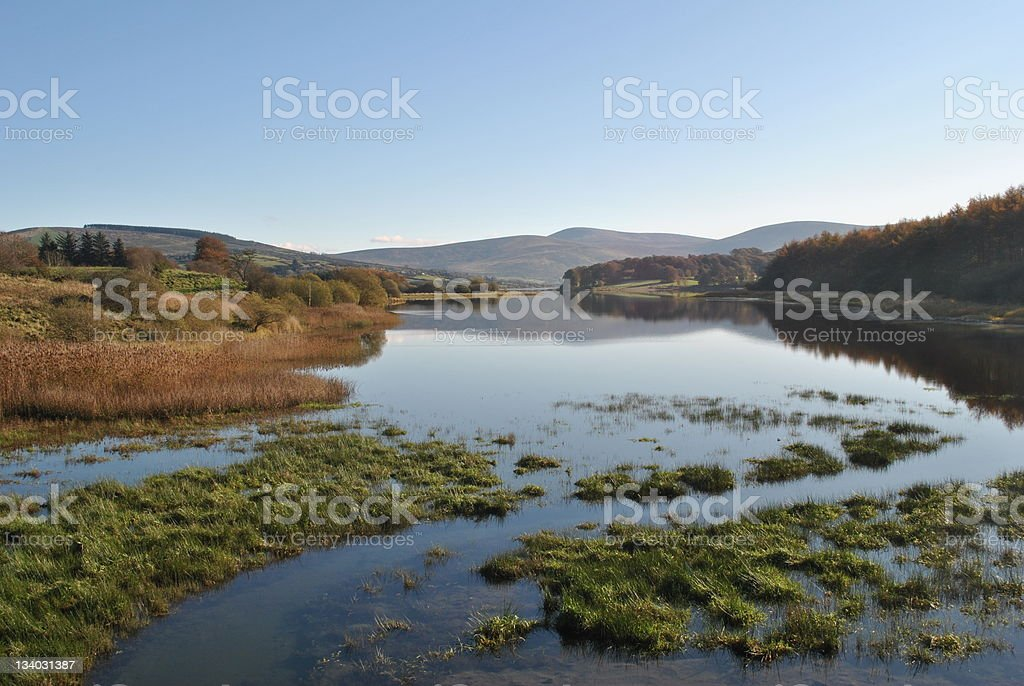 lakeview in wicklow ireland stock photo
