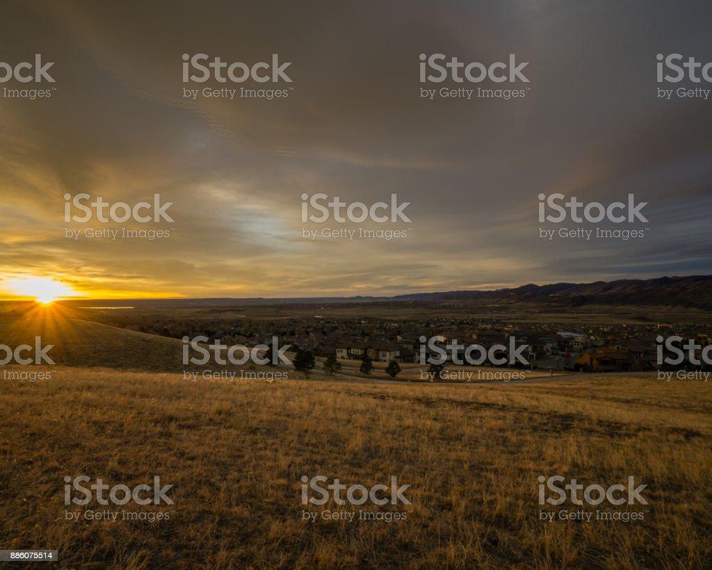 Lakewood, Colorado Sunrise stock photo