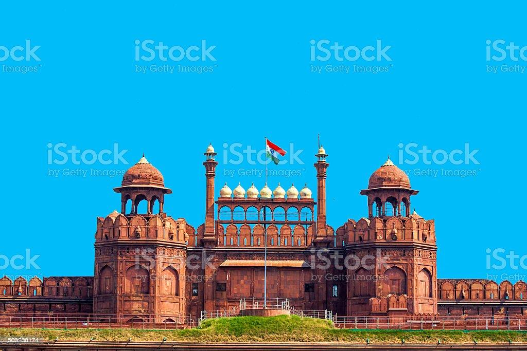 Lal Qila, red fort in Delhi stock photo