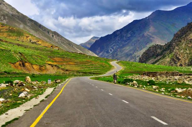 Lalazaar Rd. - Naraan Valley, Pakistan. stock photo