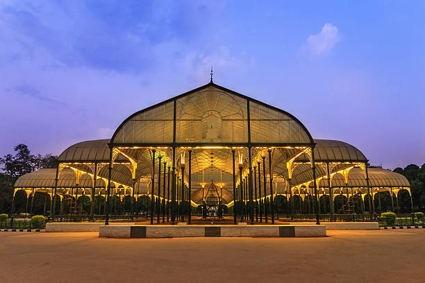 Lalbagh park in Bangalore City, India night scene of Lalbagh park in Bangalore City, India bangalore stock pictures, royalty-free photos & images
