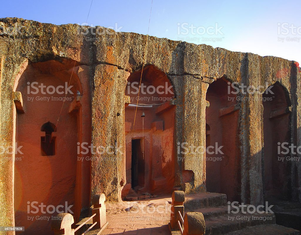 Lalibela, Ethiopia: Bete Gabriel-Rufael church royalty-free stock photo