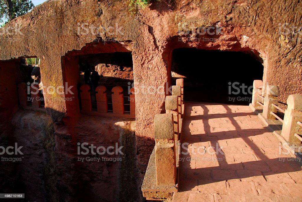 Lalibela, Etiopía: Bete Gabriel-Rufael iglesia - foto de stock