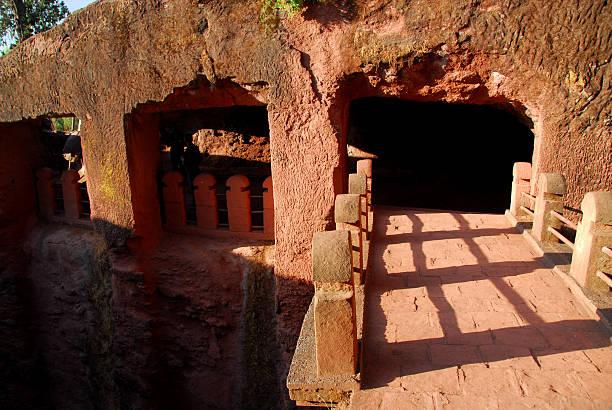 Lalibela, Etiópia: Bete Gabriel-Rufael Igreja - foto de acervo