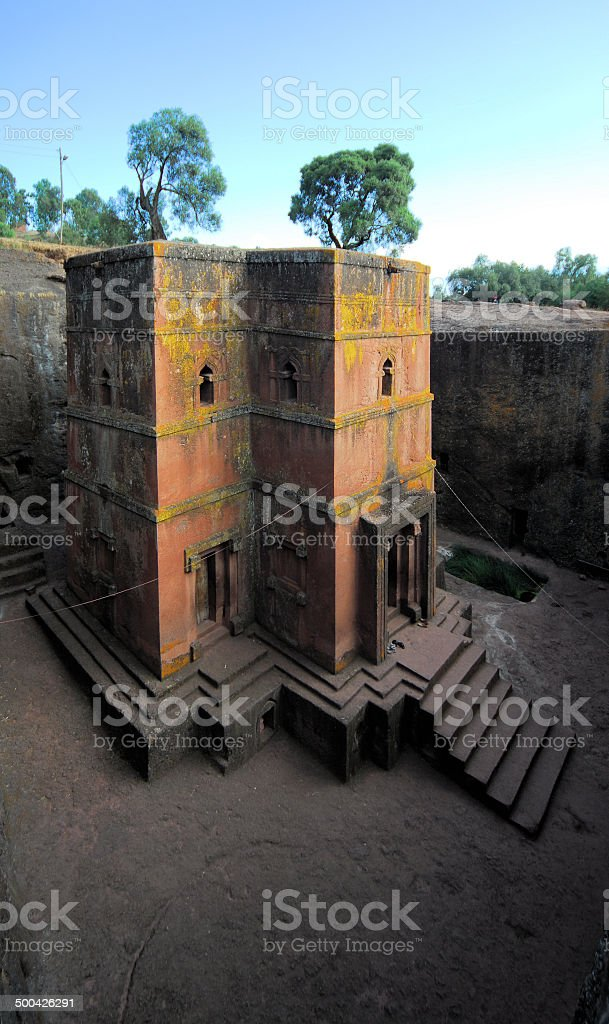 Lalibela, Ethiopia: rock-hewn Church of Saint George stock photo