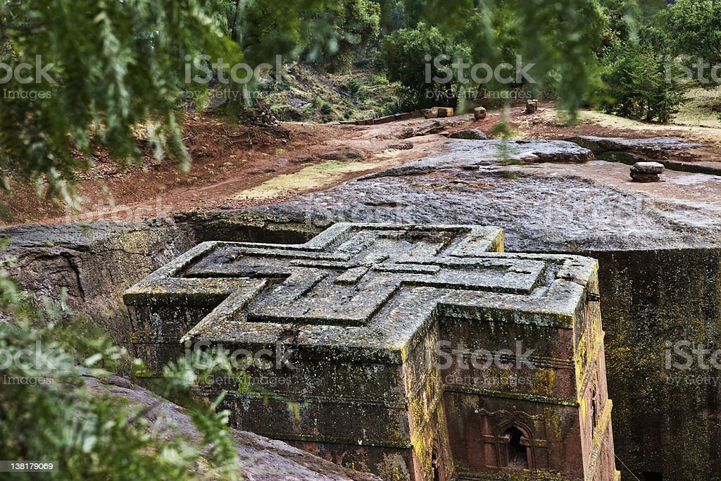 Lalibela  Saint Giorgis Church stock photo