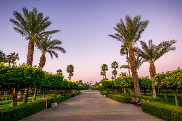 Lalla Hasna Park in Marrakech stock photo