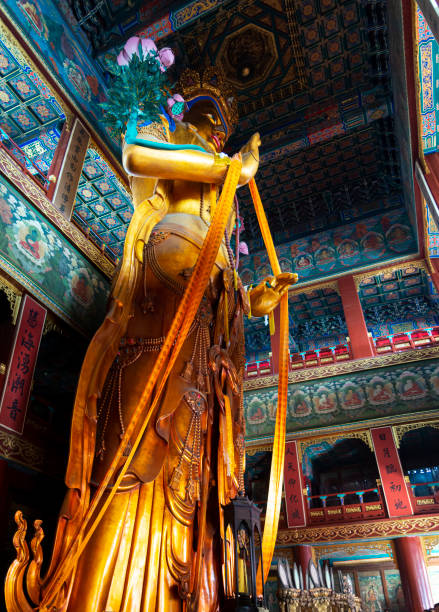 Lama Temple, Yonghegong , Beijing stock photo
