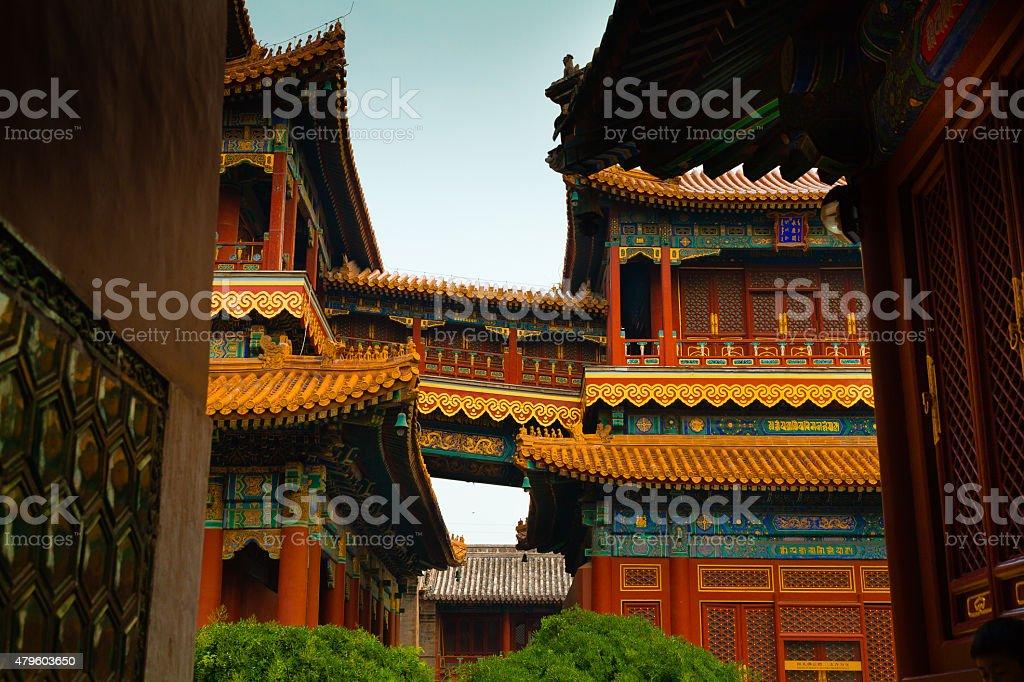 Lama Temple-Bridge stock photo