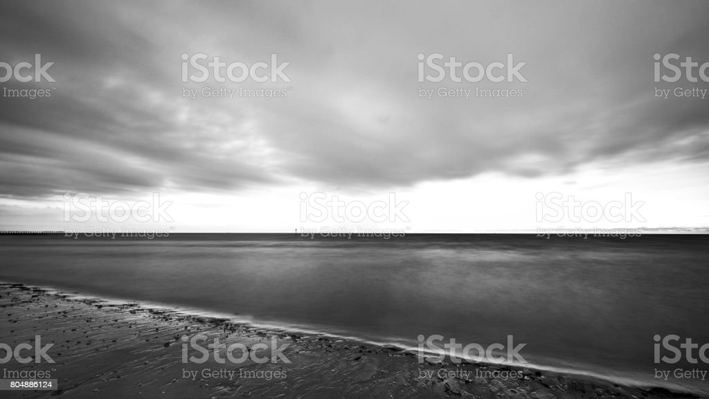 Lamaru Beach stock photo