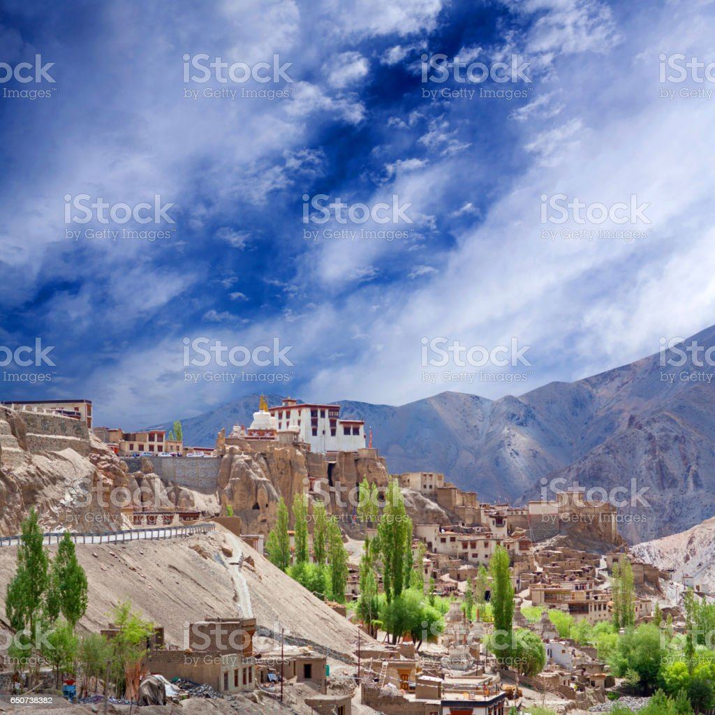 Lamayuru monastery in Ladakh, Jammu and Kashmir State, North India stock photo