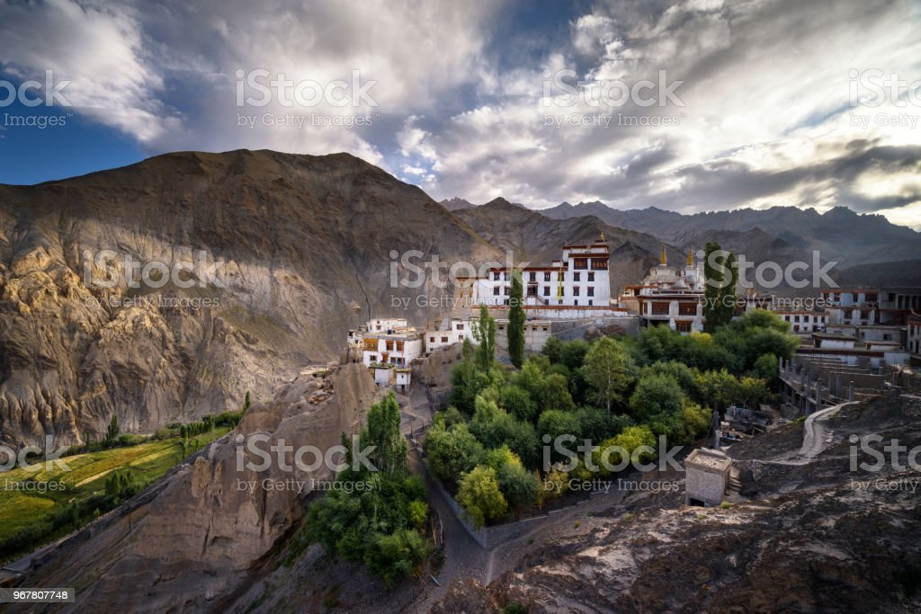 lamayuru monastery landscape at Ladakh stock photo