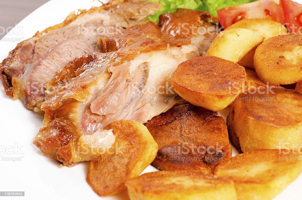 Lamb and potato royalty-free stock photo
