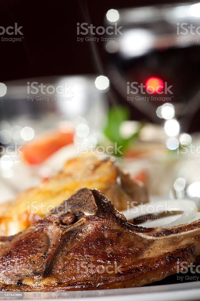 lamb chop stock photo