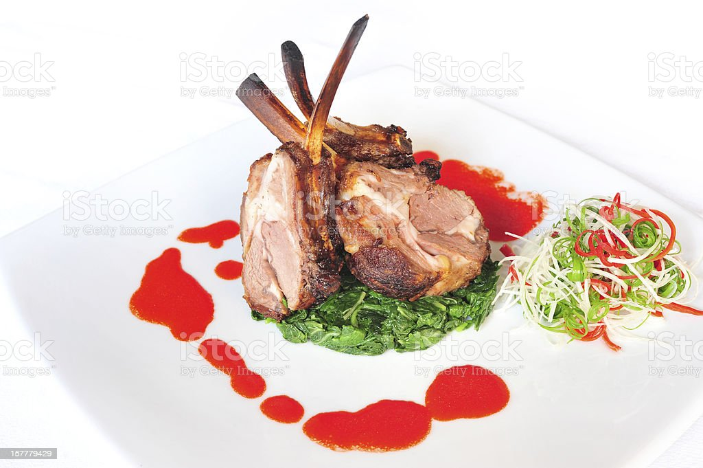 Lamb Chop royalty-free stock photo