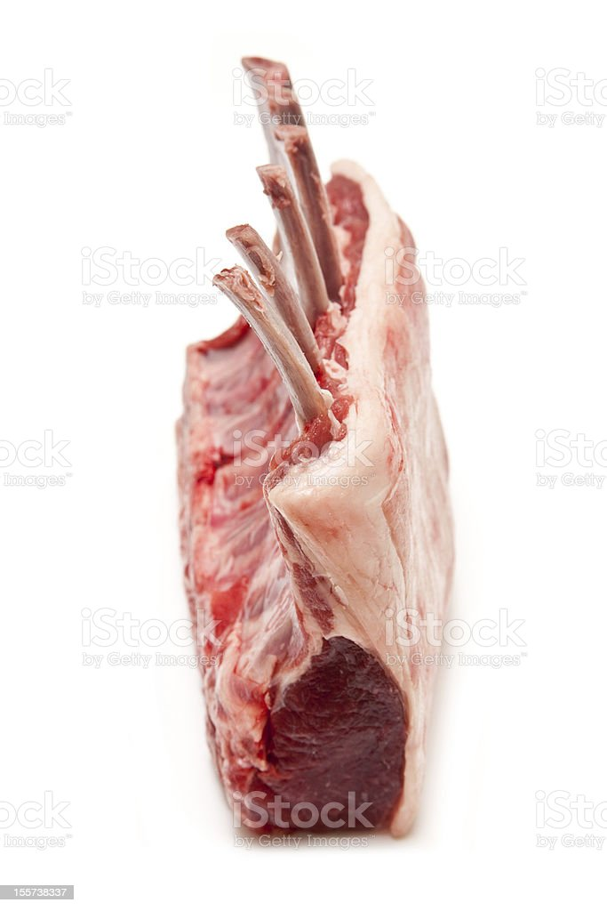 Lamb chops isolated on a white studio background. royalty-free stock photo