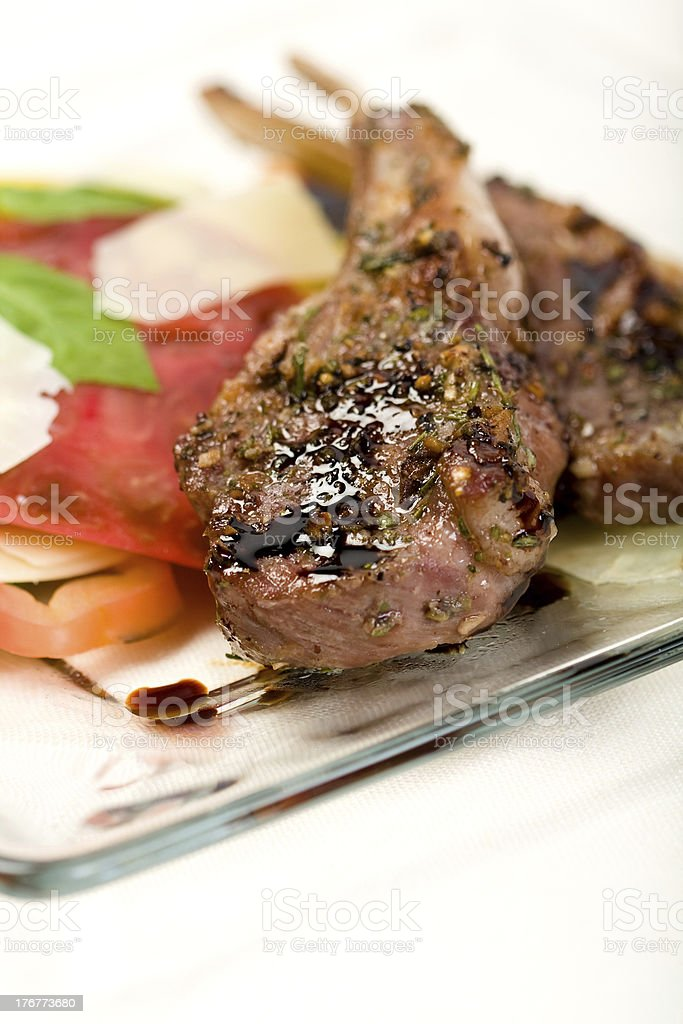 Lamb Chops on plate royalty-free stock photo