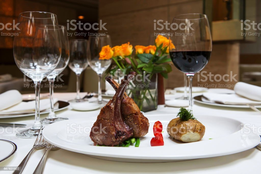 Lamb Chops or Muuton Chops stock photo