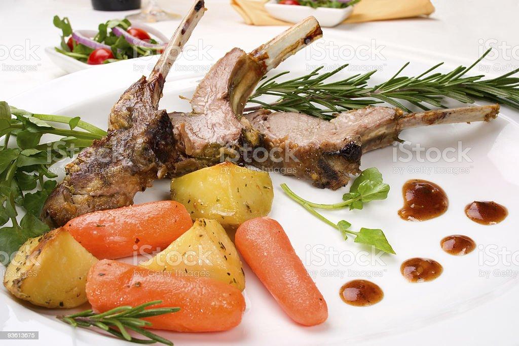 Lamb chops royalty-free stock photo