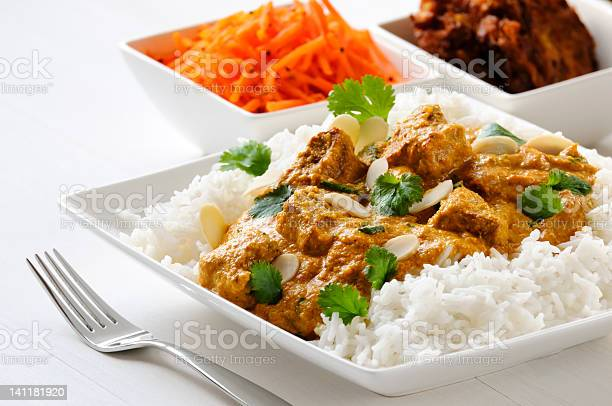 Lamb Curry With Rice Stock Photo - Download Image Now
