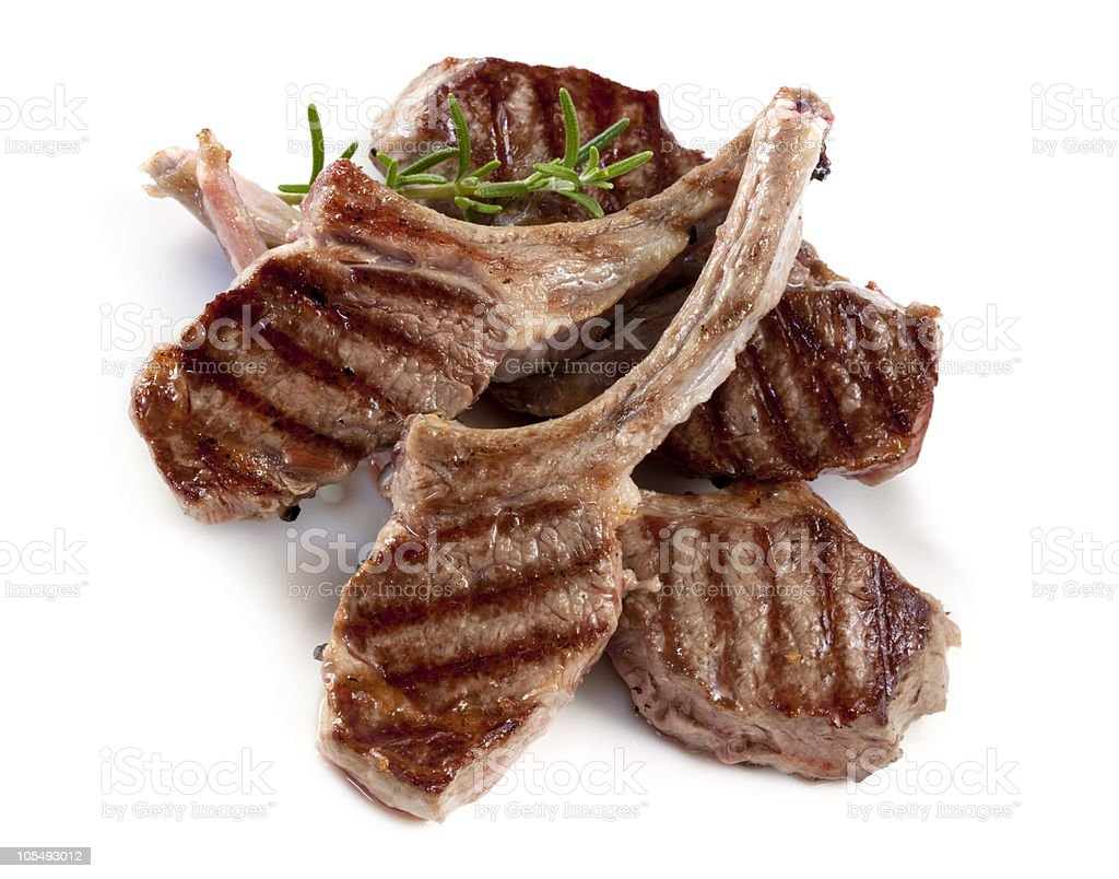 Lamb Cutlets royalty-free stock photo