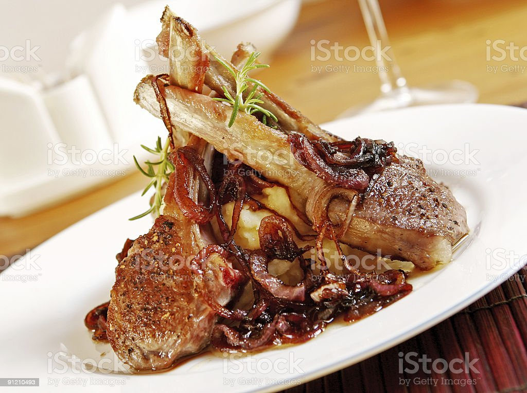 Lamb Cutlets royalty-free stock photo