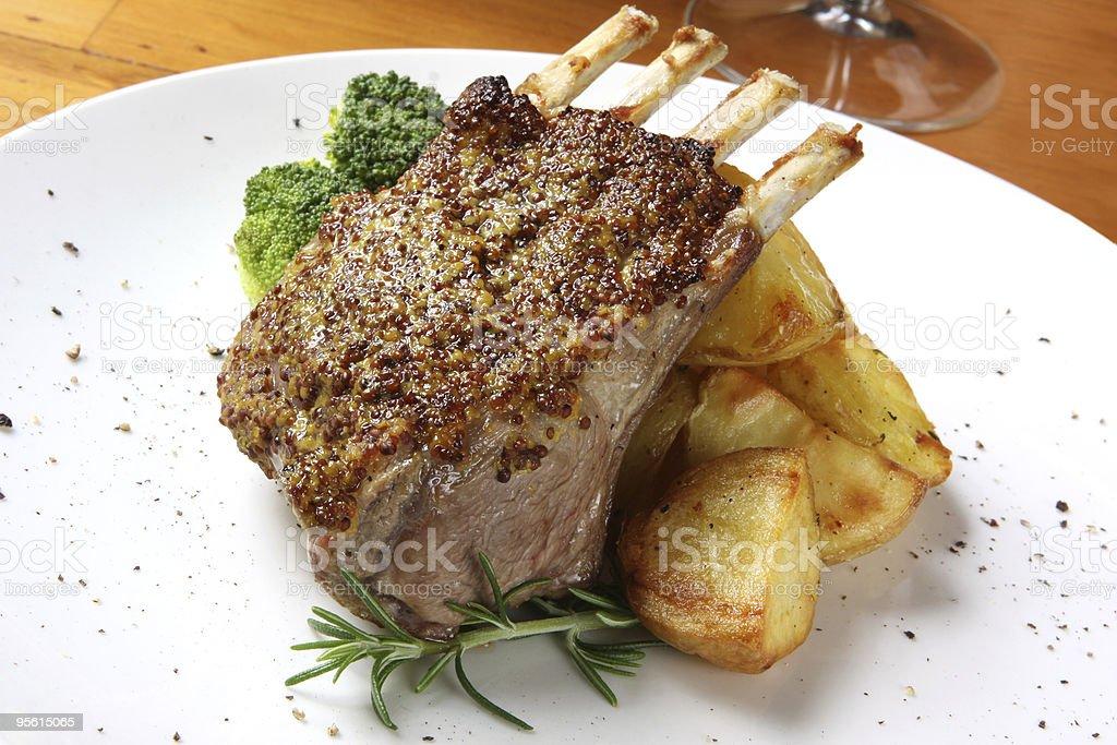 Lamb Dinner stock photo