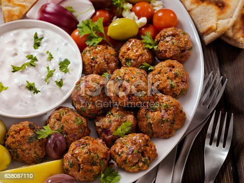 100% Lamb -Greek Meatball Platter - Photographed on Hasselblad H3D2-39mb Camera
